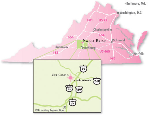 sweet briar campus map Directions To The Tusculum Institute